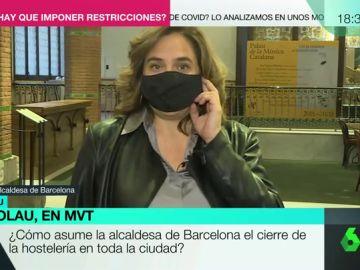 """Colau respalda las restricciones en Cataluña pero exige medidas para """"acompañar"""" a los bares: """"Están realmente al límite"""""""