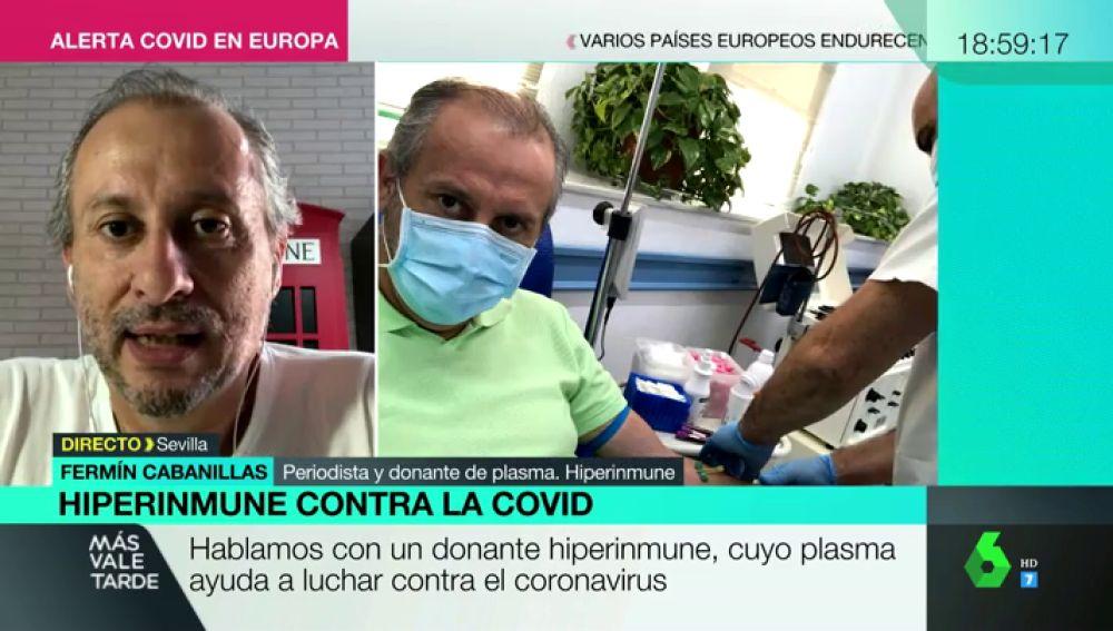 """Las donaciones de los 'hiperinmunes', vacunas naturales contra el coronavirus que salvan vidas: """"Es una bendición"""""""