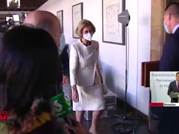 La reacción de la reina Sofía al ser preguntada por el rey emérito