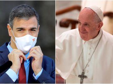 Pedro Sánchez y el papa Francisco