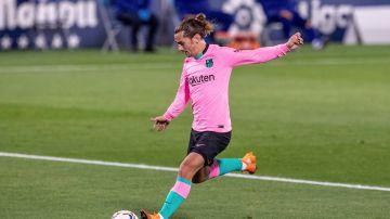 El centrocampista francés del Barcelona Antoine Griezmann