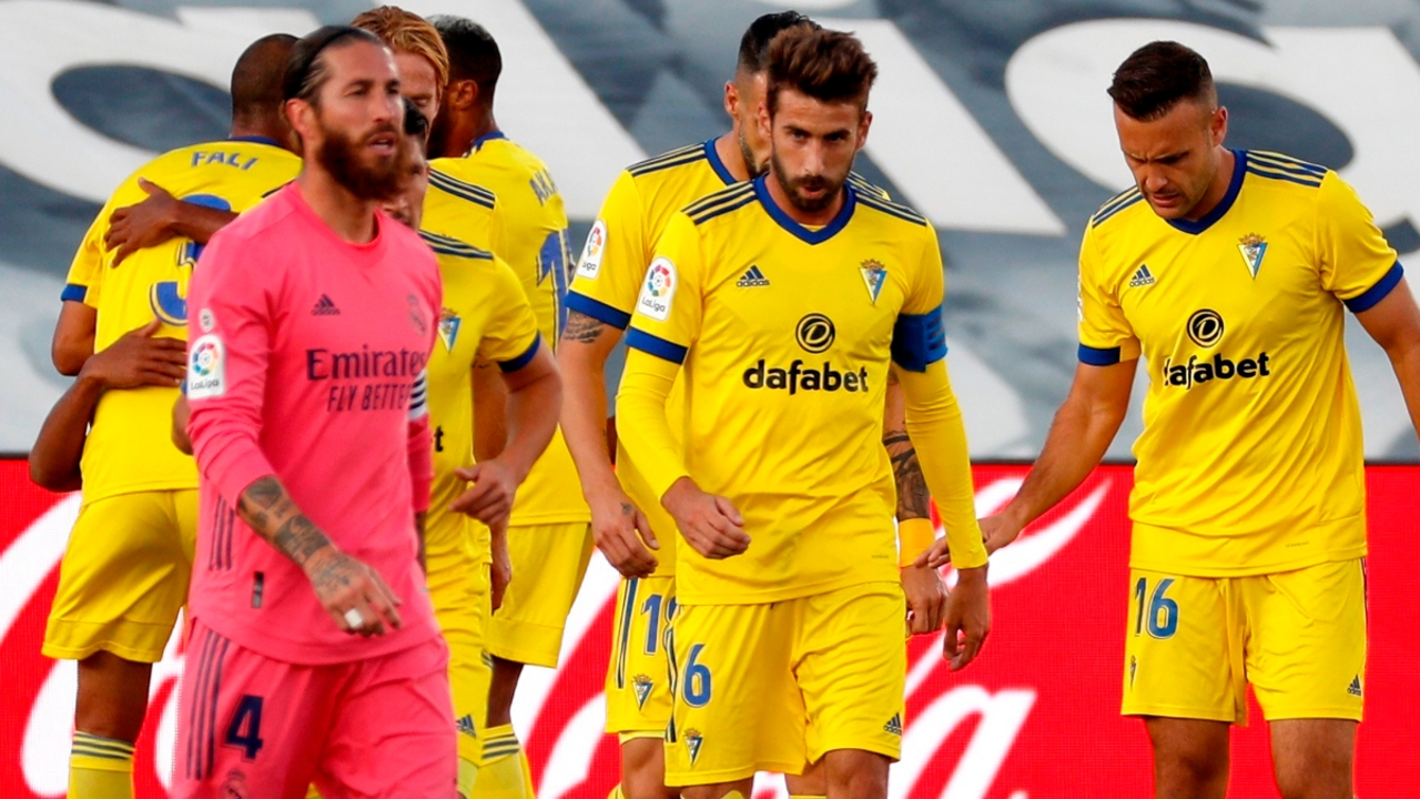 Sergio Ramos, tras el gol del Cádiz