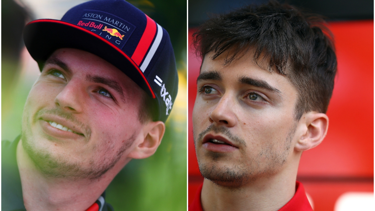 Max Verstappen y Charles Leclerc