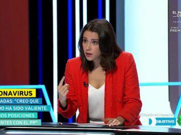 """Inés Arrimadas: """"En el tiempo que dura esta entrevista van a morir tres o cuatro españoles por coronavirus"""""""