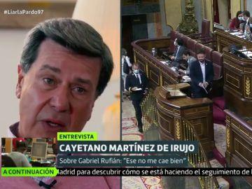 El enfado de Cayetano Martínez de Irujo con Gabriel Rufián