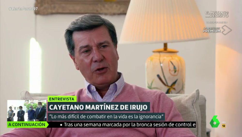 """Cayetano Martínez de Irujo: """"Quienes critican a Amancio Ortega tienen una tara física o mental"""""""