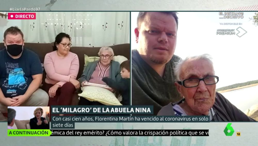 """Habla el nieto de Nina, la abuela que a sus 99 años ha superado el coronavirus: """"Para tener buena salud ha trabajado mucho en el campo"""""""
