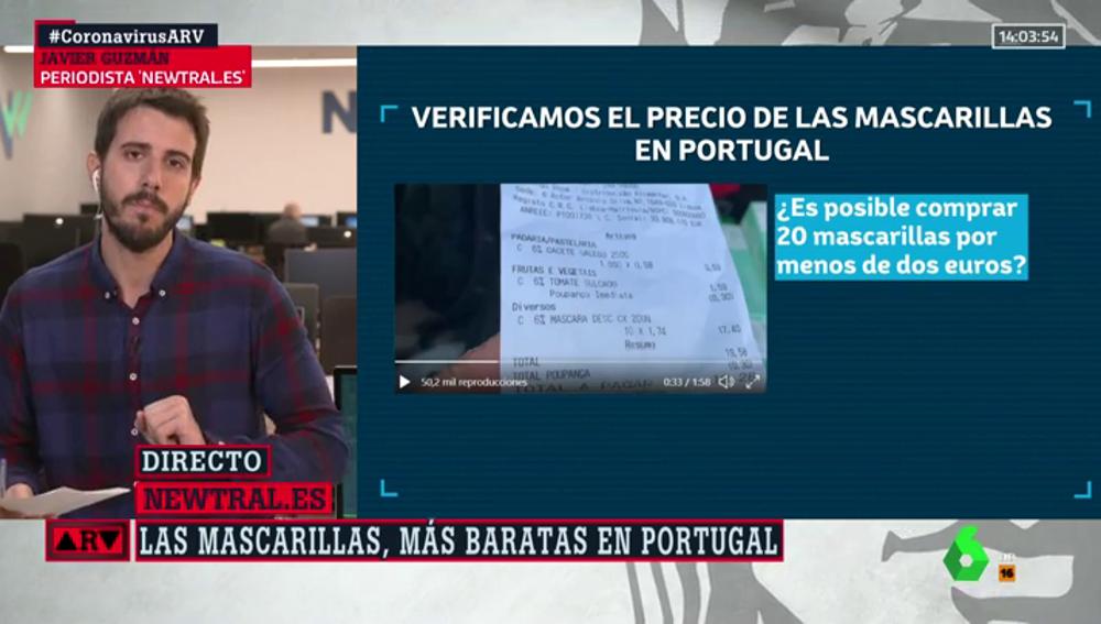¿Por qué son tan baratas las mascarillas en Portugal? La explicación tras el ticket viral
