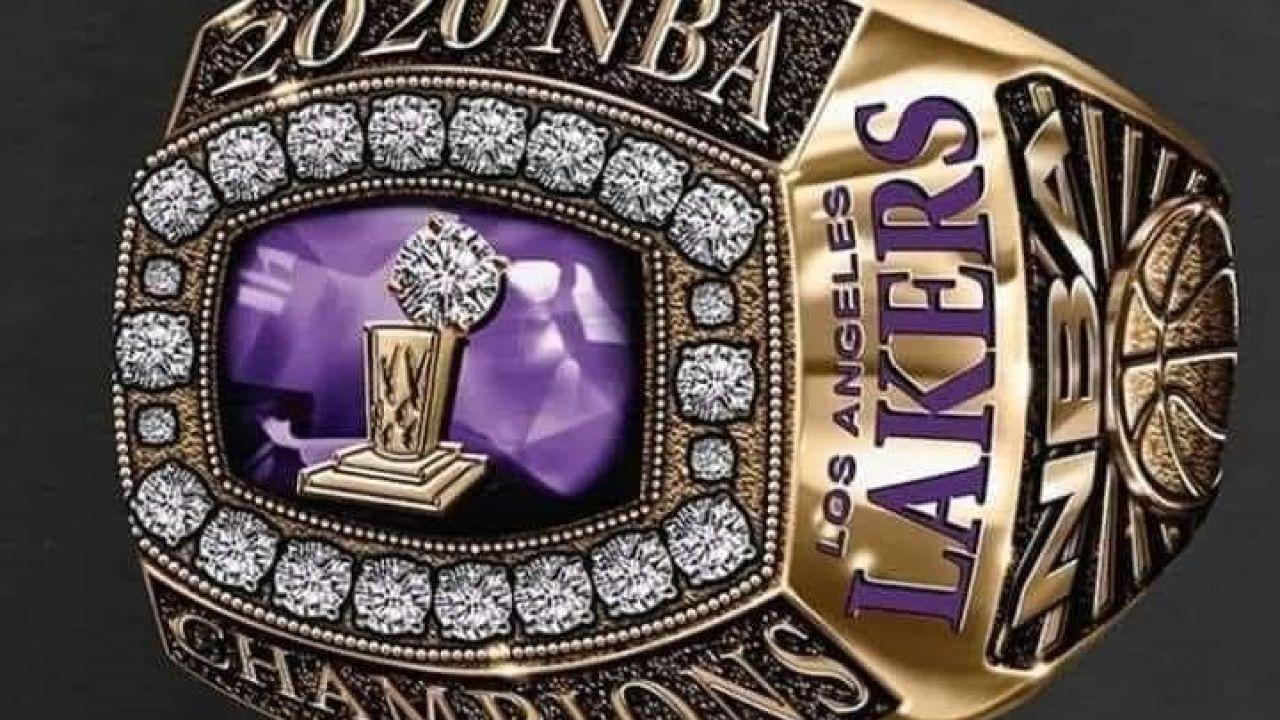 Imagen del anillo que podrían recibir los jugadores de los Lakers