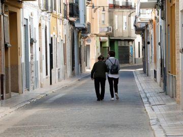 Una calle casi vacía