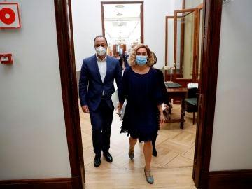 Meritxell Batet, a su llegada a la reunión de la Mesa del Congreso