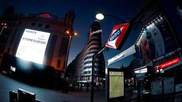 La Plaza de Callao de Madrid, vacía