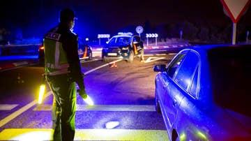 Control policial en Aranda de Duero