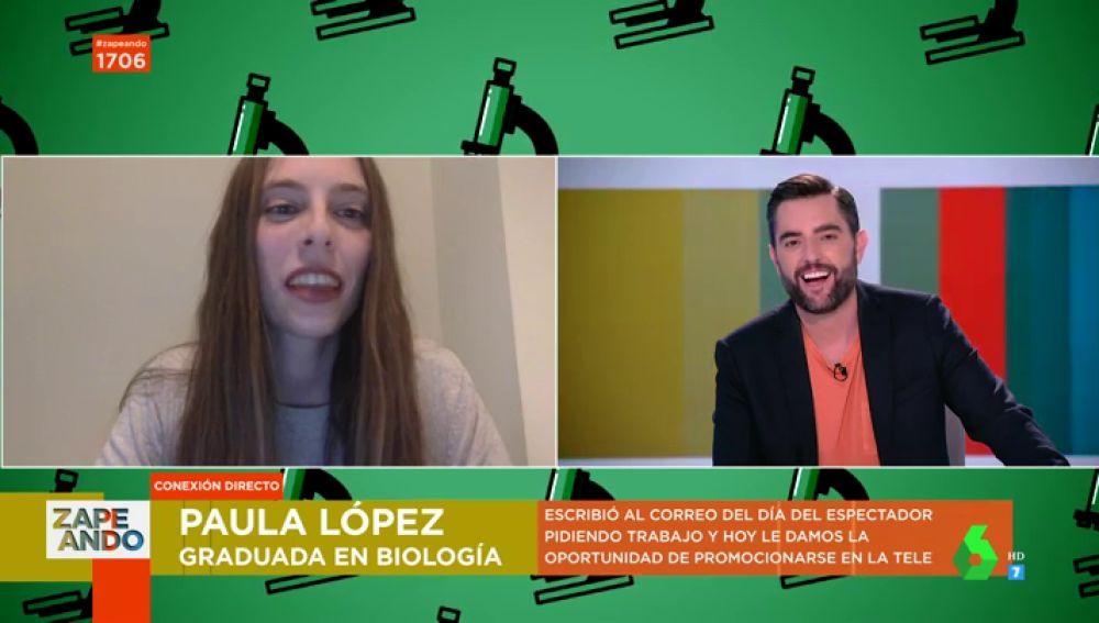 Una joven bióloga pide trabajo a Dani Mateo en pleno directo de Zapeando: esta es la respuesta