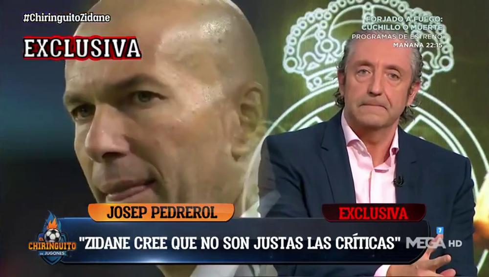 """Exclusiva de Pedrerol sobre Zidane: """"Está sorprendido por las críticas, cree que no son justas"""""""