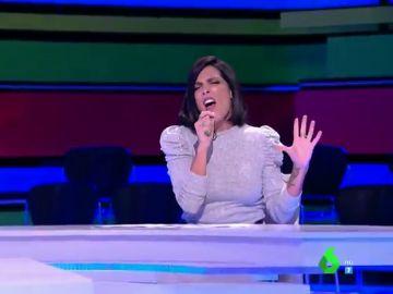 Lorena Castell se viene arriba imitando a Lady Gaga: así canta 'Shallow' en directo ante el asombro de Dani Mateo