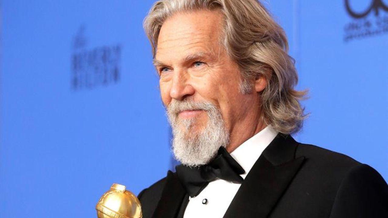 El actor Jeff Bridges en los Globo de Oro de 2019