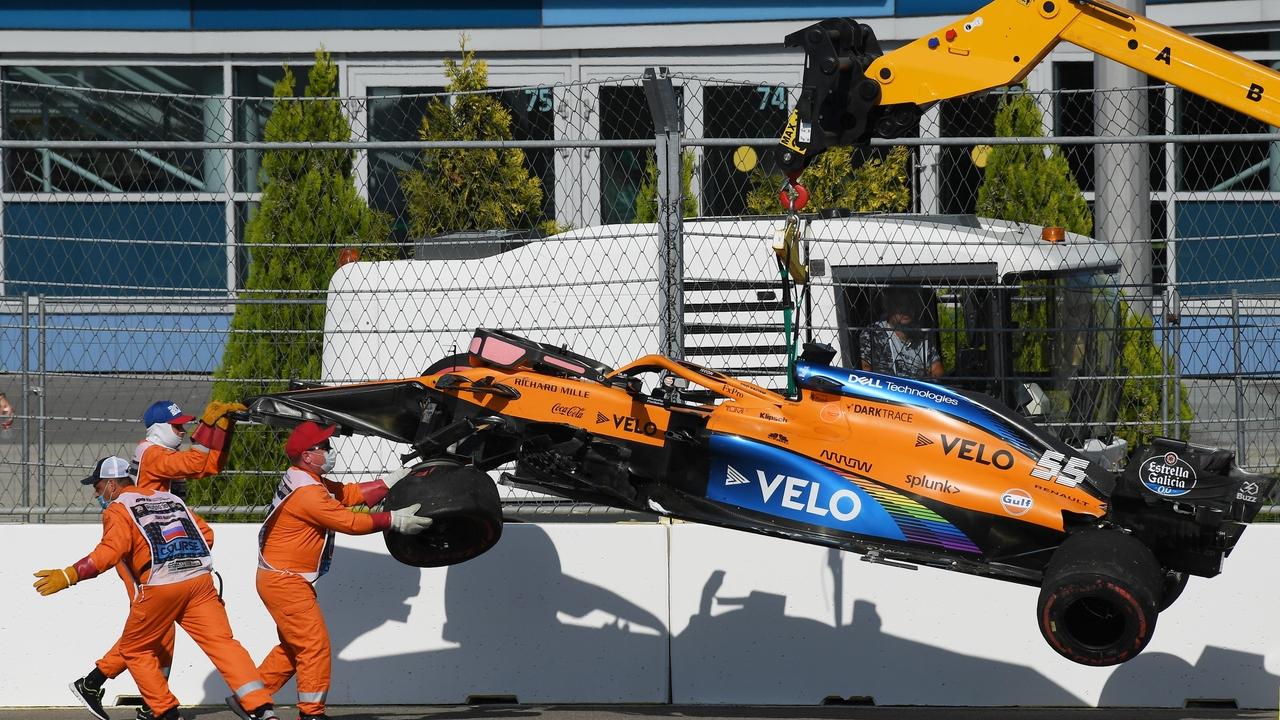 Accidente de Carlos Sainz en el GP de Rusia
