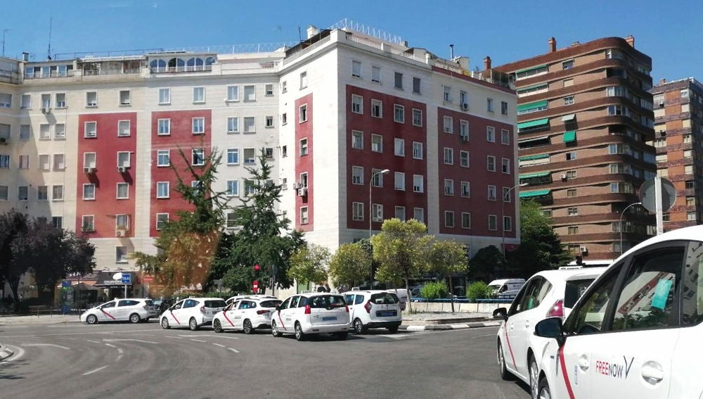 Parada de taxis en Madrid