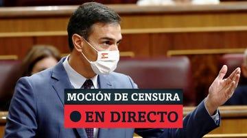 Moción de censura de Vox a Pedro Sánchez, noticias en directo
