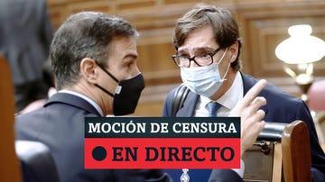 Moción de censura de Vox a Pedro Sánchez, última hora en directo