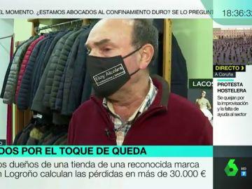 """Habla el propietario de una tienda destrozada por los disturbios en Logroño: """"Es una imagen difícil de digerir, impresionante"""""""