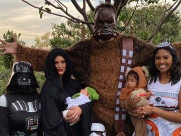 Pau Gasol y su familia junto a la de Kobe Bryant