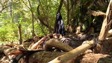 Silvia y AnaPi, en su refugio