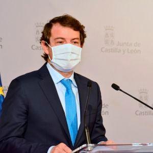 El presidente de la Junta de Castilla y León, Alfonso Fernández Mañueco