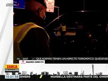La respuesta de un guardia civil a un conductor que quería salir de Madrid