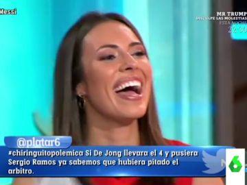 La divertida pillada a Sandra Díaz Arcas al leer el tuit de 'Ana Bohuelo' desata un ataque de risa en El Chinringuito
