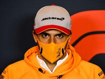 Carlos Sainz, en rueda de prensa del GP de Imola