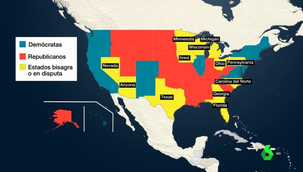 Elecciones EEUU   Qué son los estados bisagra que decidirán el ganador en la batalla Trump - Biden