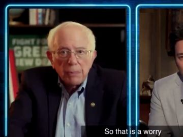 Bernie Sanders durante la entrevista con Jimmy Fallon el pasado 23 de octubre.