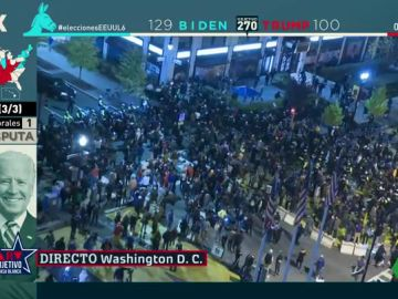Cientos de personas se manifiestan por las calles de Washington