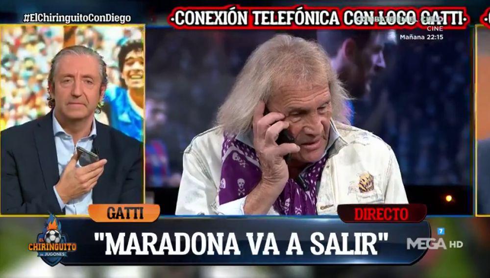 """El emotivo mensaje de 'Loco' Gatti a Maradona: """"Saldrás de esta"""""""