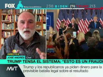 """El chef José Andrés: """"Desde que Trump llegó al poder dice que el sistema democrático es corrupto"""""""