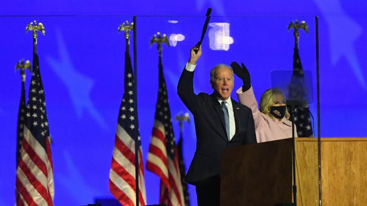 Joe Biden habla tras la jornada electoral en Estados Unidos.
