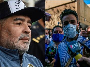 Diego Armando Maradona y Leopoldo Luque