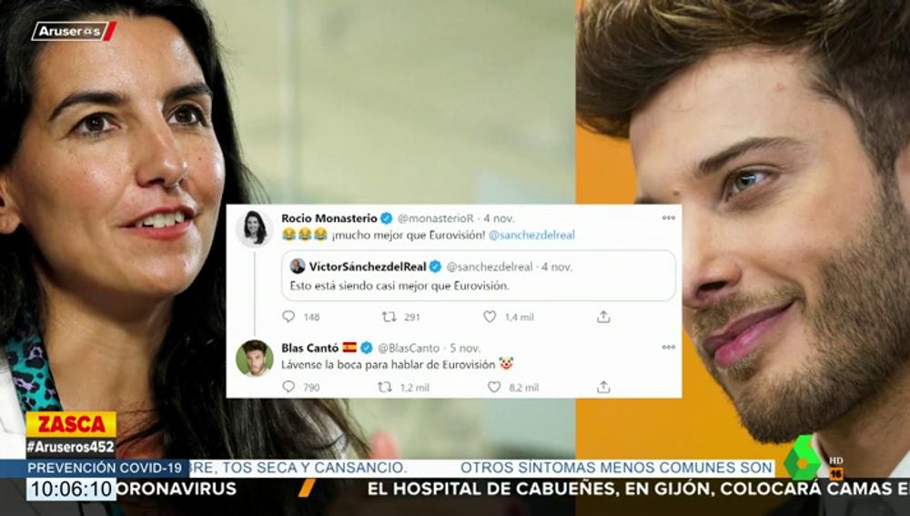 La aplaudida respuesta de Blas Cantó a un simpatizante de Vox tras defender a Rocío Monasterio al hablar de Eurovisión