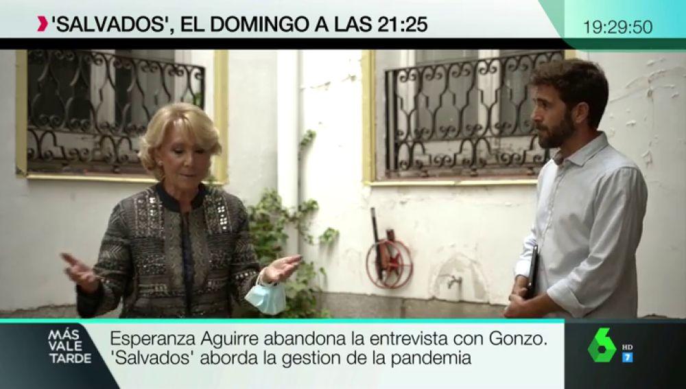 La pregunta de 'Salvados' sobre las carencias en el sistema sanitario madrileño que hace que Esperanza Aguirre abandone su entrevista