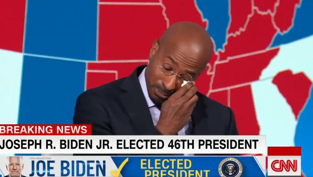 Van Jones, emocionado tras conocer la victoria de Biden