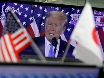 Un discurso de Trump, visto por televisión