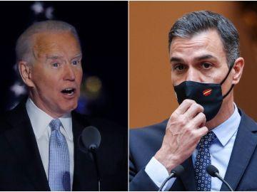 Joe Biden y Pedro Sánchez