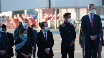 Pablo Iglesias y el rey Felipe VI, a su llegada a Bolivia