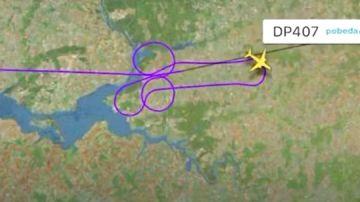 Investigan a dos pilotos rusos por dibujar un pene en el cielo con un un Boeing 737