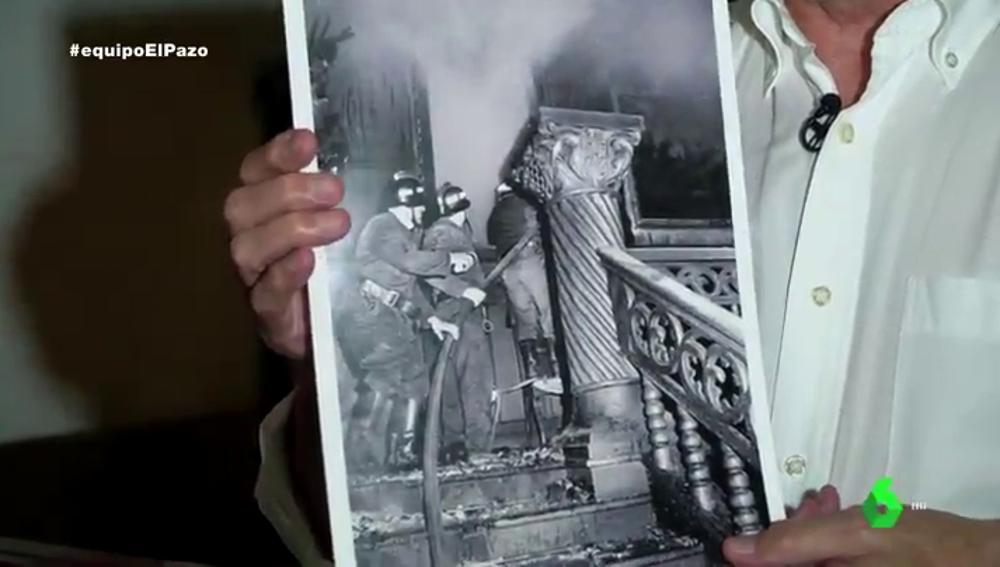 La foto inédita del incendio del Pazo de Meirás: el origen del fuego sigue siendo polémico