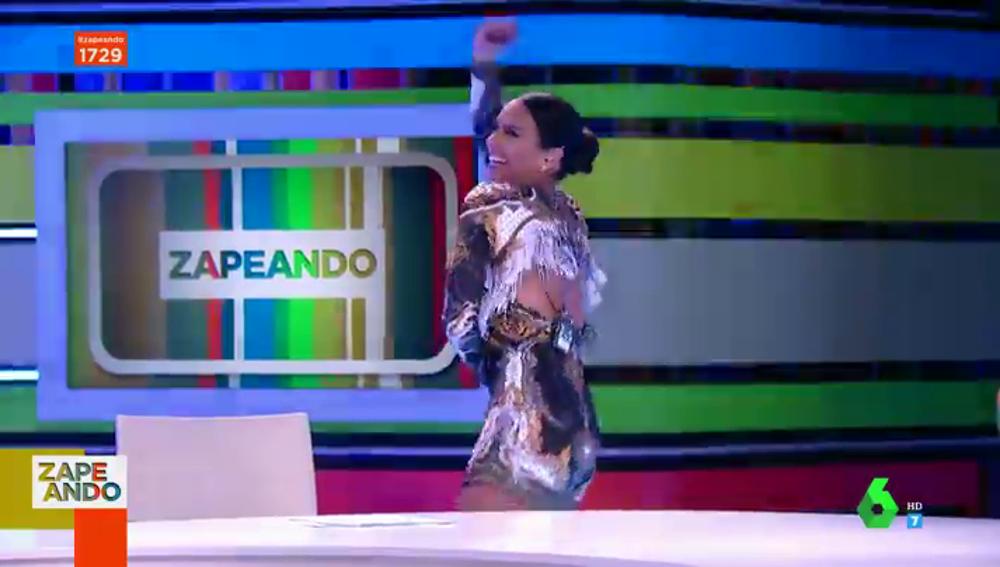 El efusivo baile de Cristina Pedroche para arrancar el viernes al ritmo de Miley Cirus y Dua Lipa