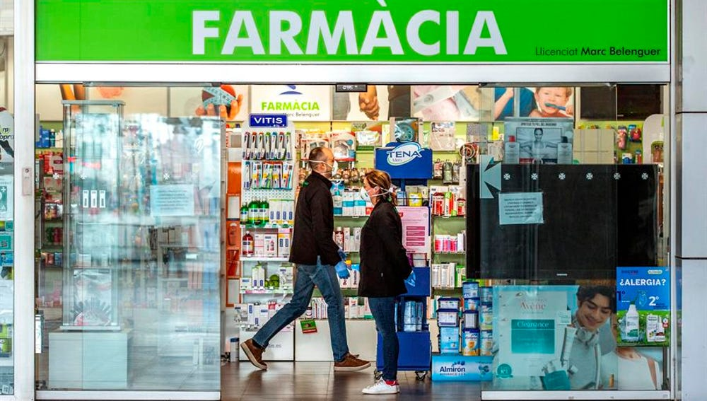 Una farmacia catalana.