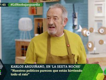 """Karlos Arguiñano: """"Estos no son los políticos que necesitamos, muchos no tienen ni estudios"""""""